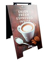 Coffee ad stand